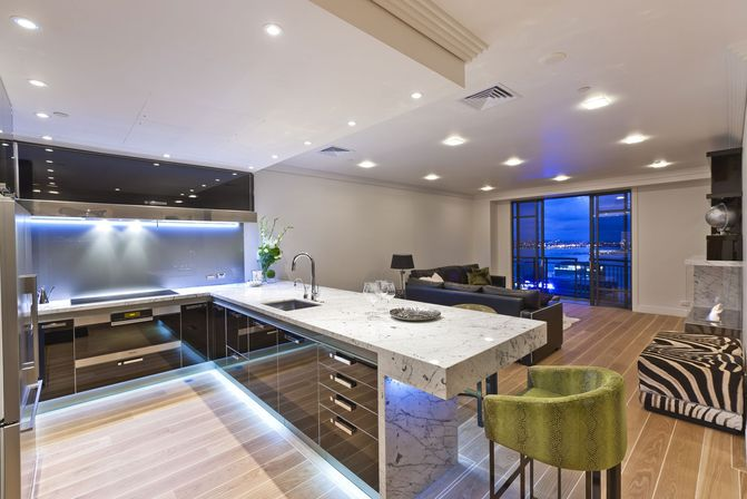 Modern kitchen in ordinary house