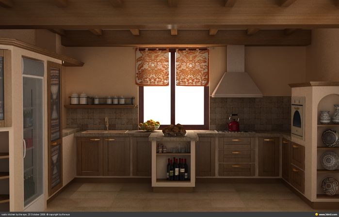 Comfort high design of kitchen