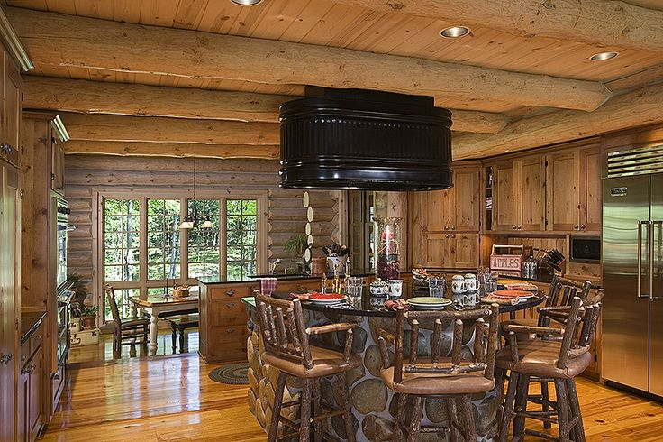 Log Cabin Kitchens Cabinets Ideas In 2019 Beautikitchens Com